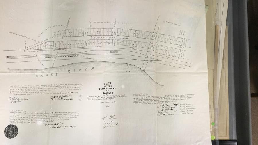 Plan of the Town Site of Roniett, photo of document