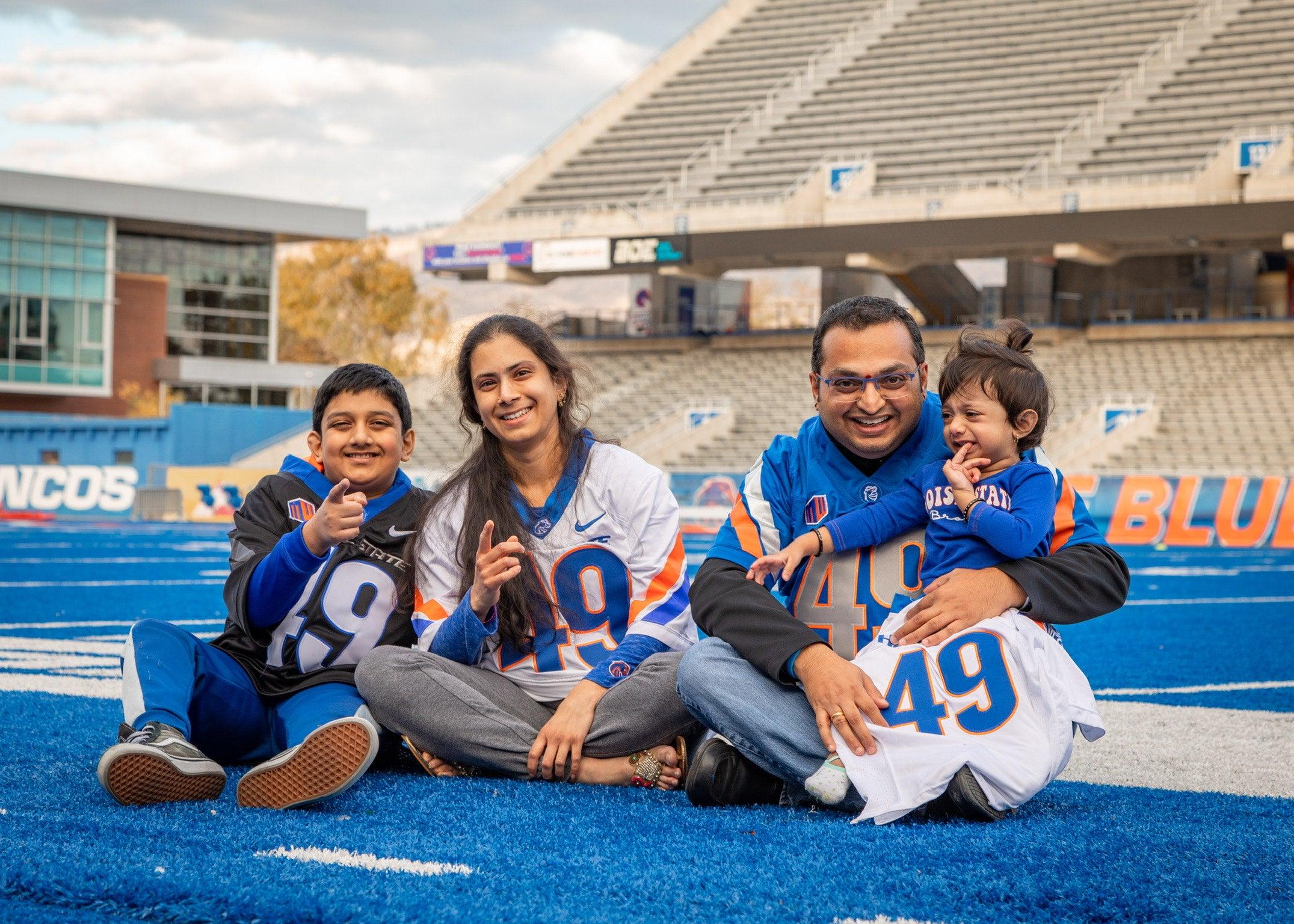 Krishna Pakala and his family