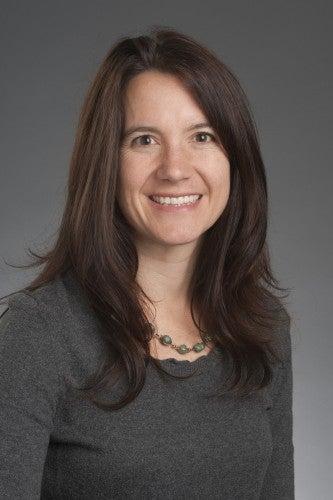 A studio portrait of historian Emily Wakild.