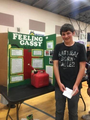 Student science fair participant