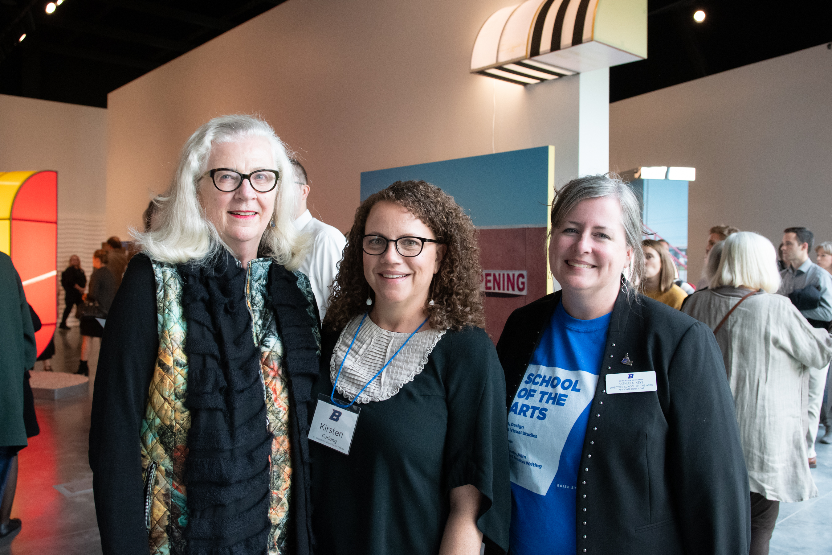 Kirsten Furlong and Kathleen Keys pose with another woman