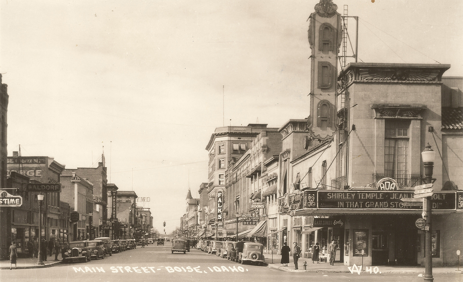 Old photo of downtown Boise, ID