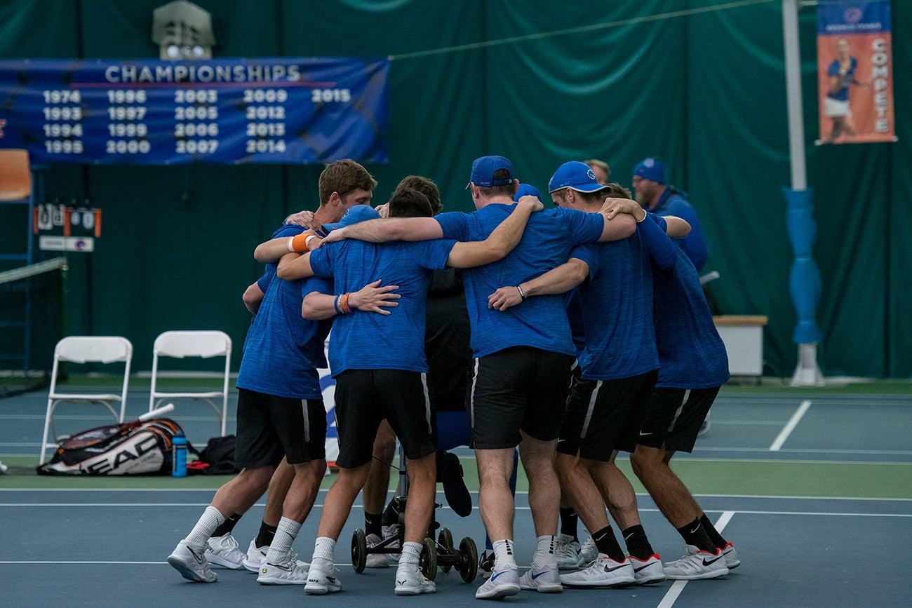 Men's Tennis vs Louisiana, photo by Dawson Gutierrez