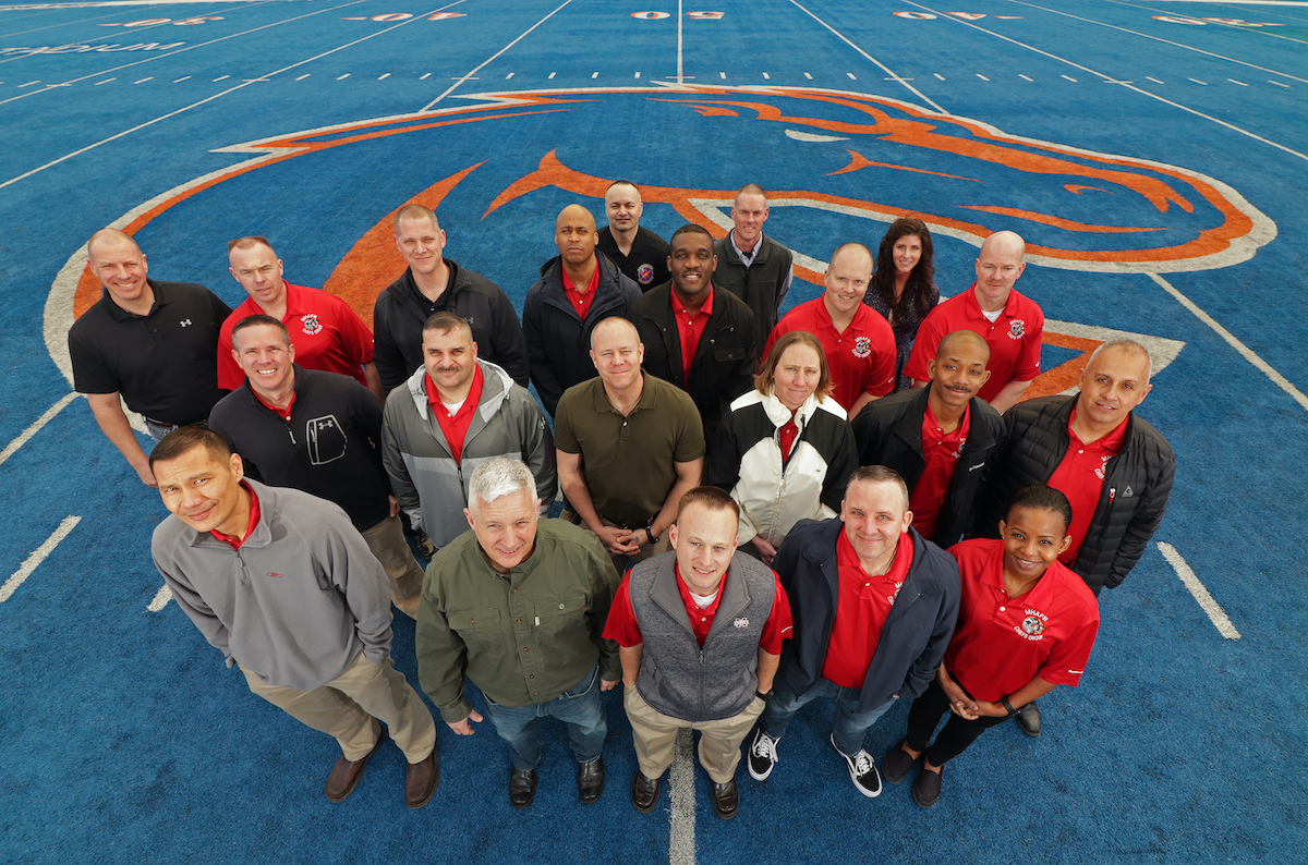 25 Chiefs from Mountain Home Air Force Base visit Boise State University
