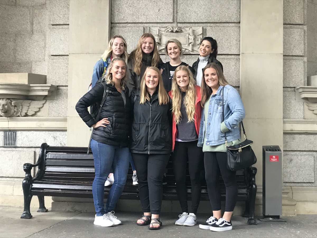 All eight students who went to Ireland