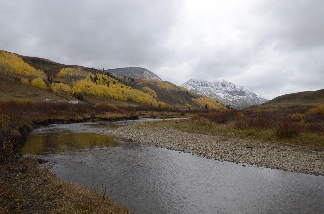 mountain river scene