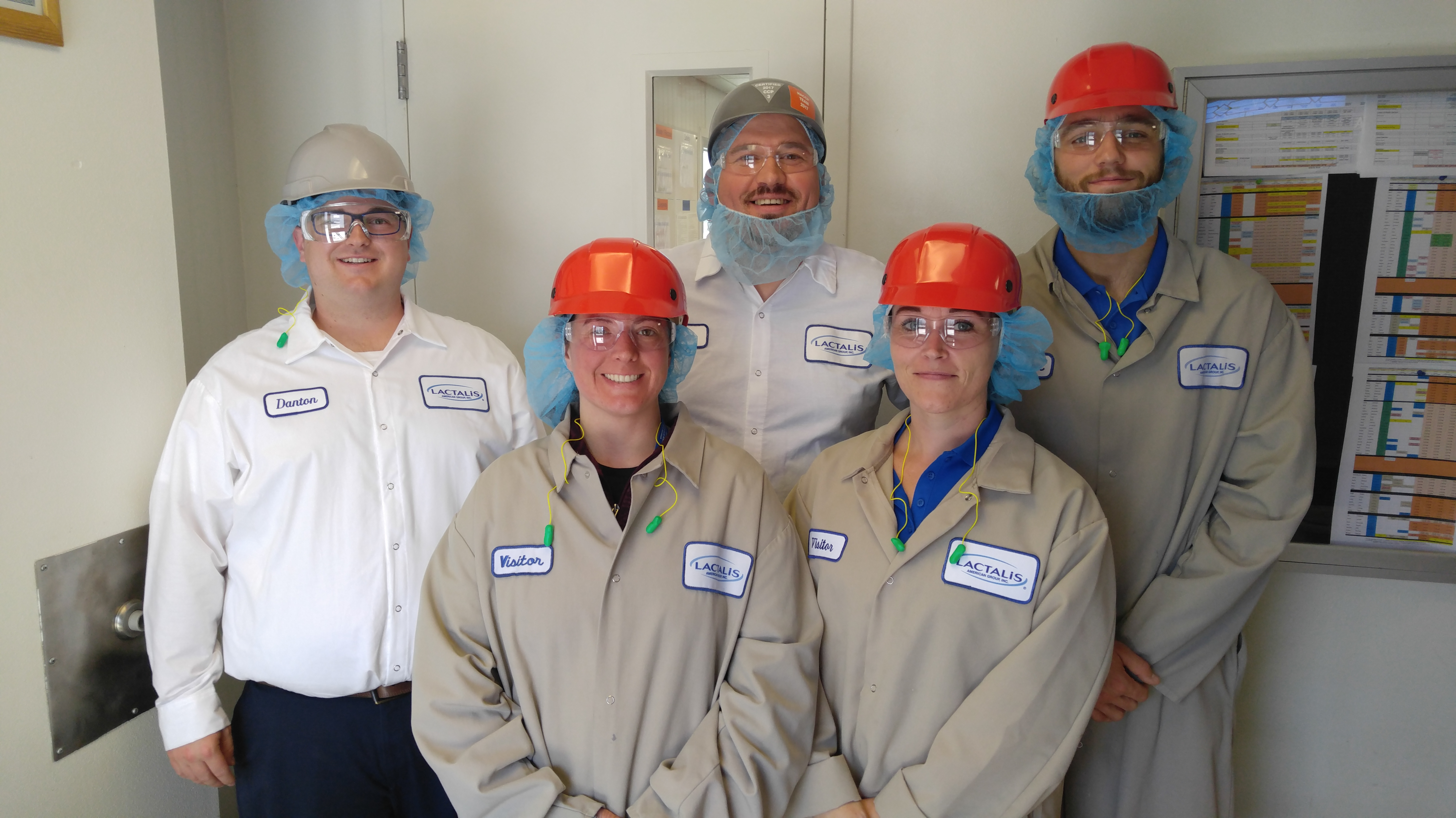 students and colleagues at Lactalis facility