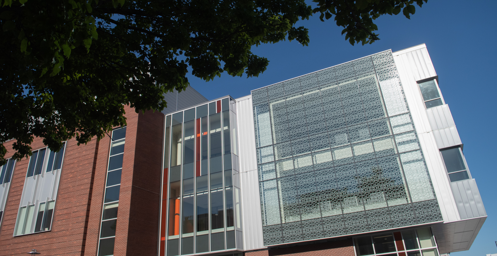 Side view of Materials Research building