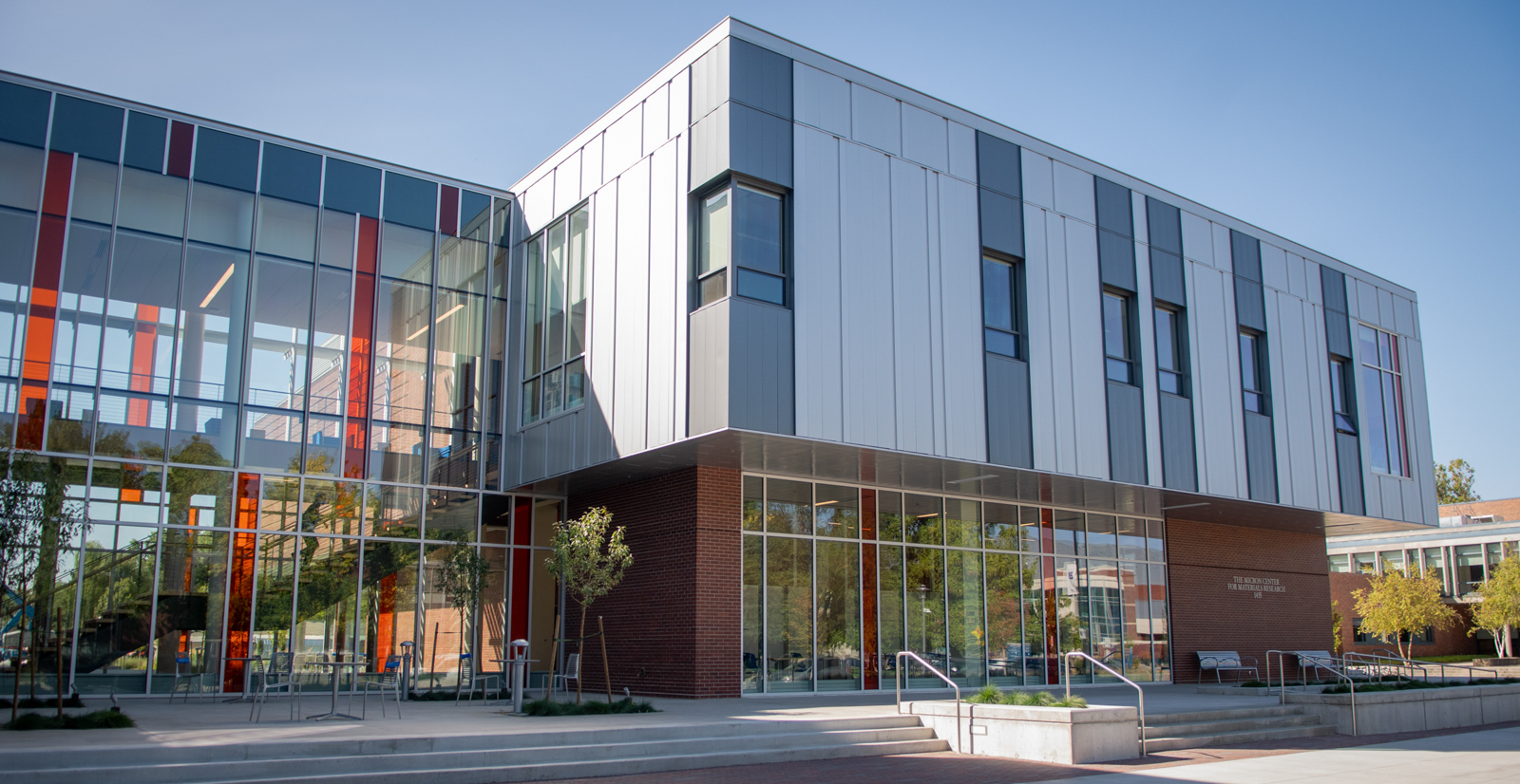 Another outside view of the Materials Research building