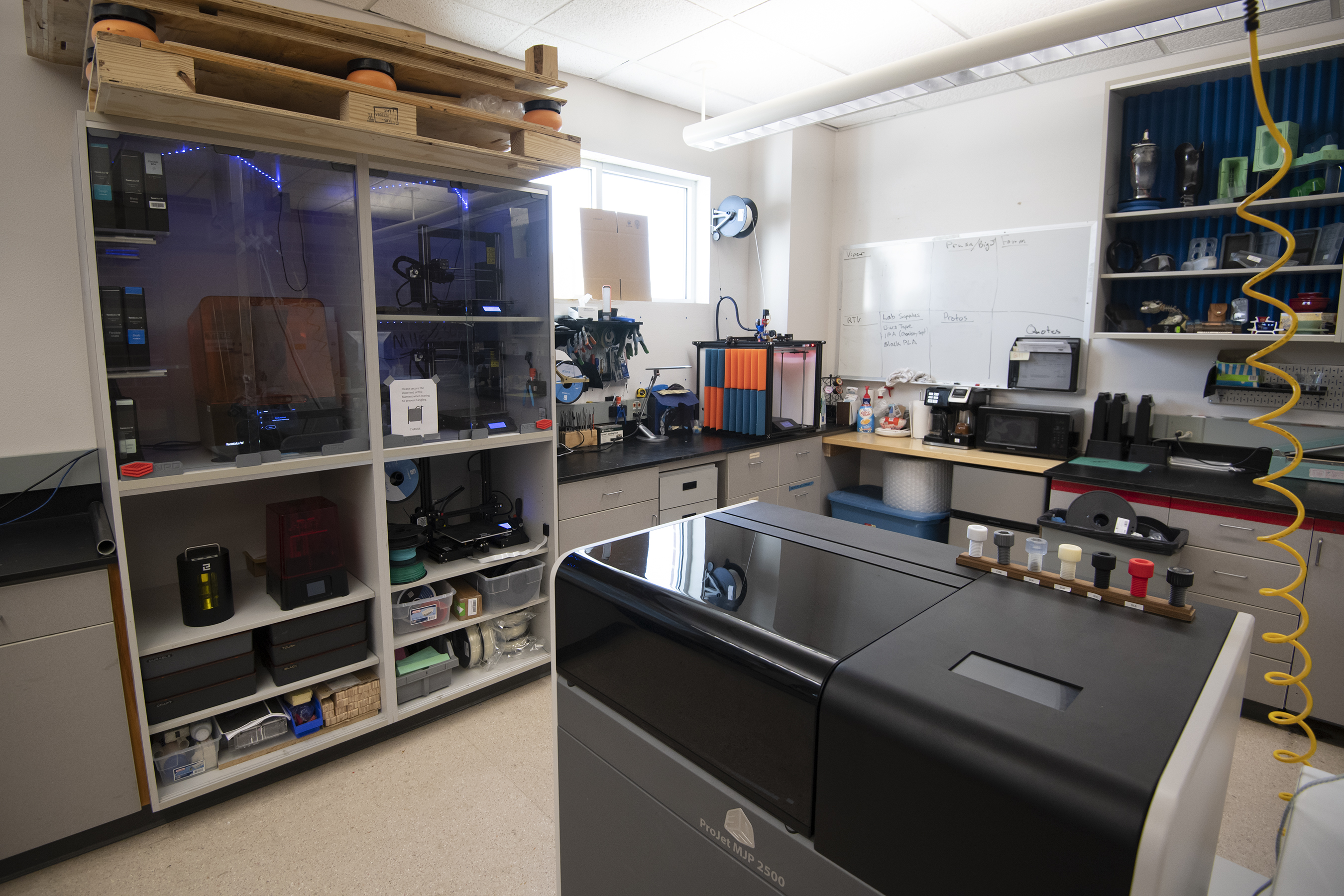 Picture of various lab equipment