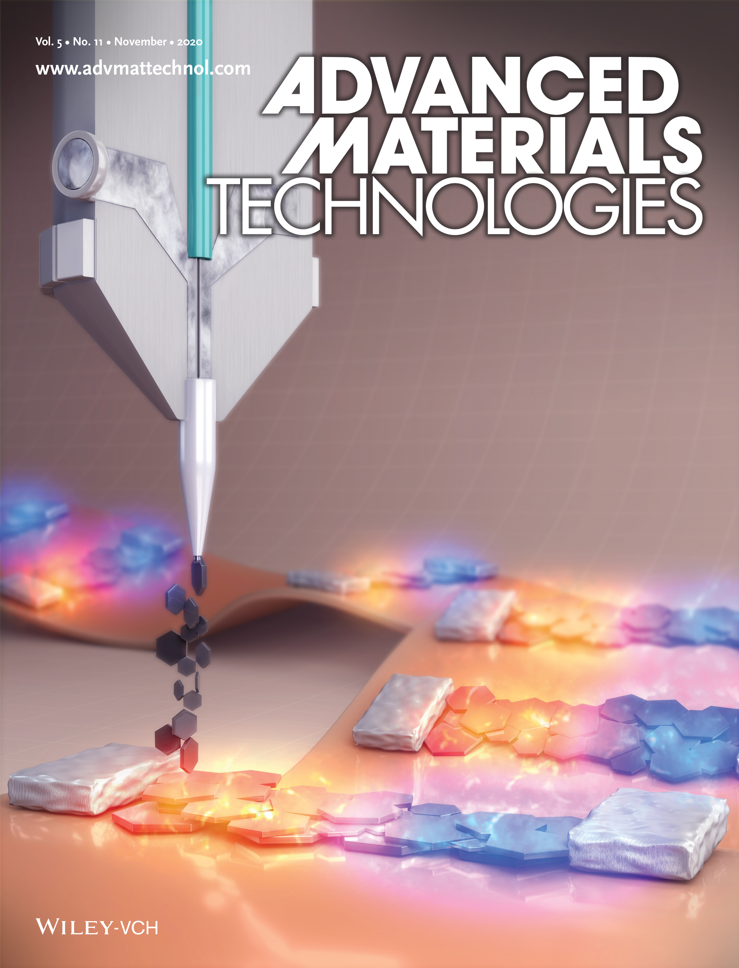 Cover art for Advanced Materials Technology journal, 11/2020