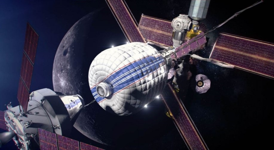 inflatable habitat in space
