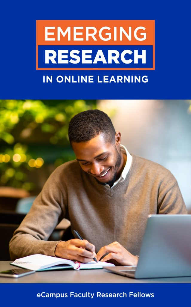 """Book cover of """"Emerging Research in Online Learning"""" by eCampus Faculty Research Fellows."""