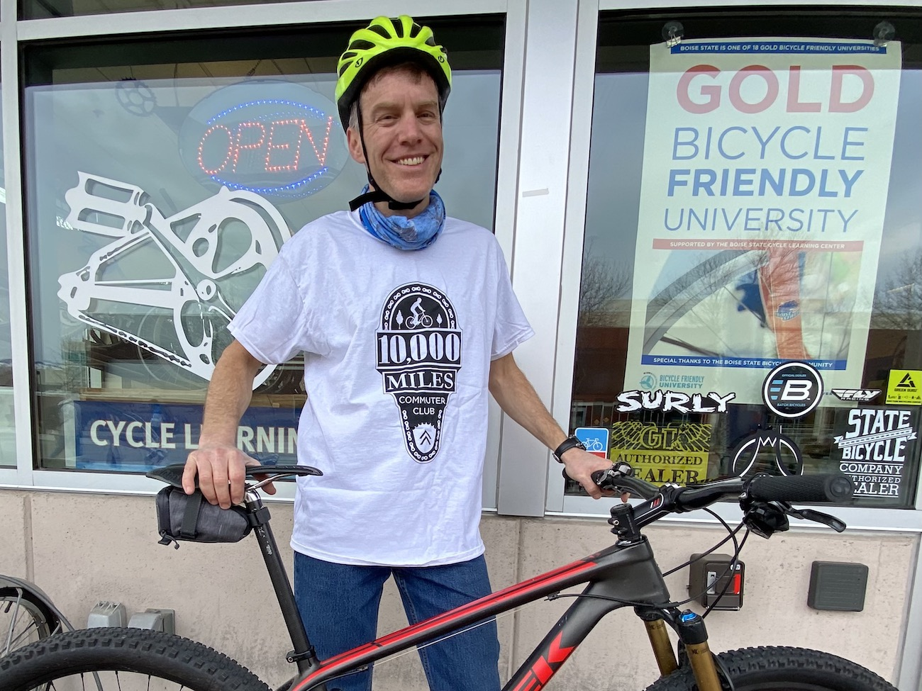 Paul Davis and his bicycle