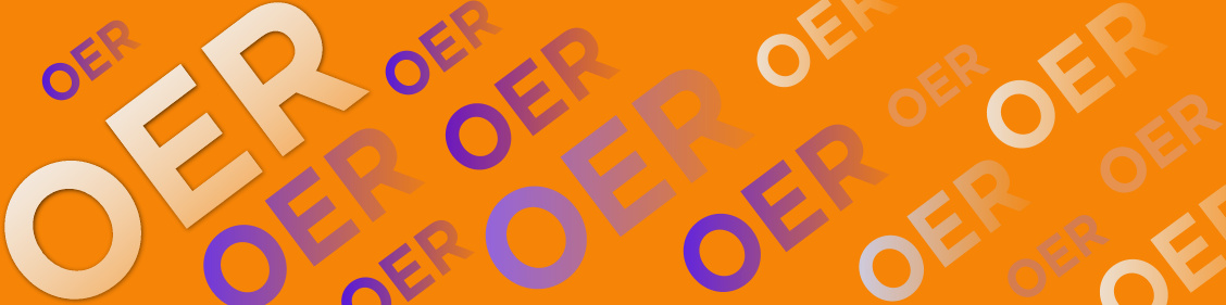 Oer banner (OER text repeats)