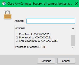 Duo VPN multi-factor