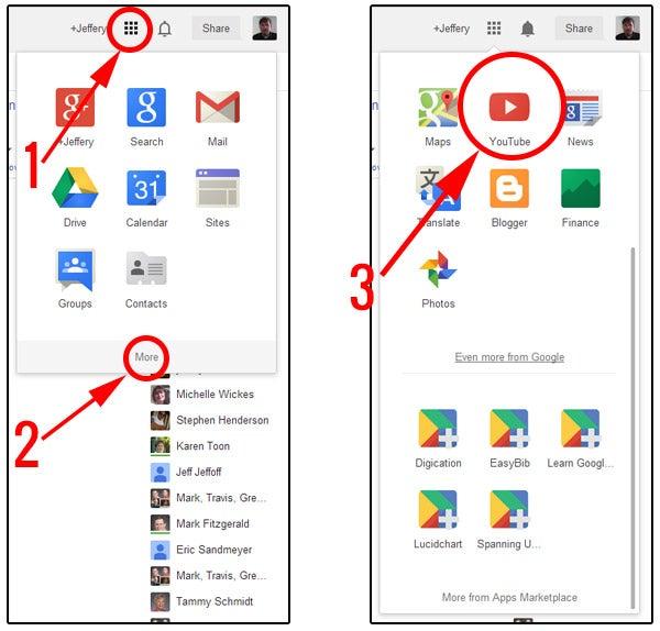 image of Google App Launcher