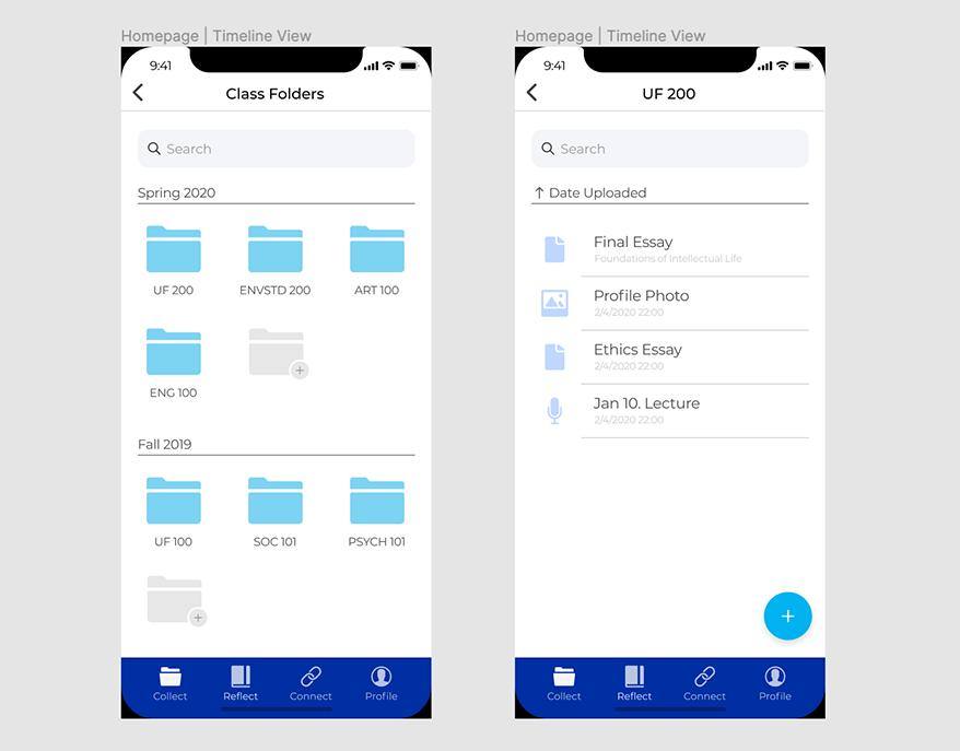 Storyboard App screenshot of various view modes