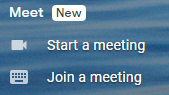 Google Meet in Gmail