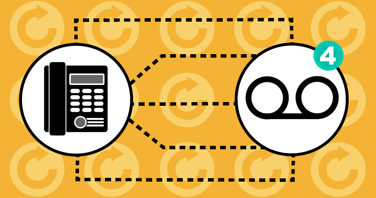 telephone and voicemail symbols