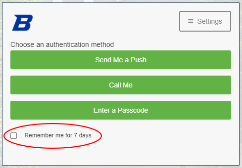 Duo Security Remember Me