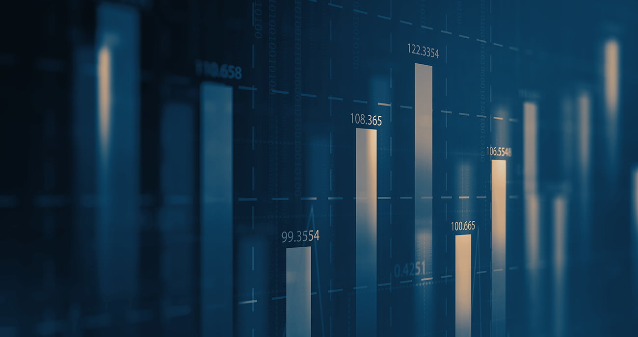 Vertical bar graphs on a digital report