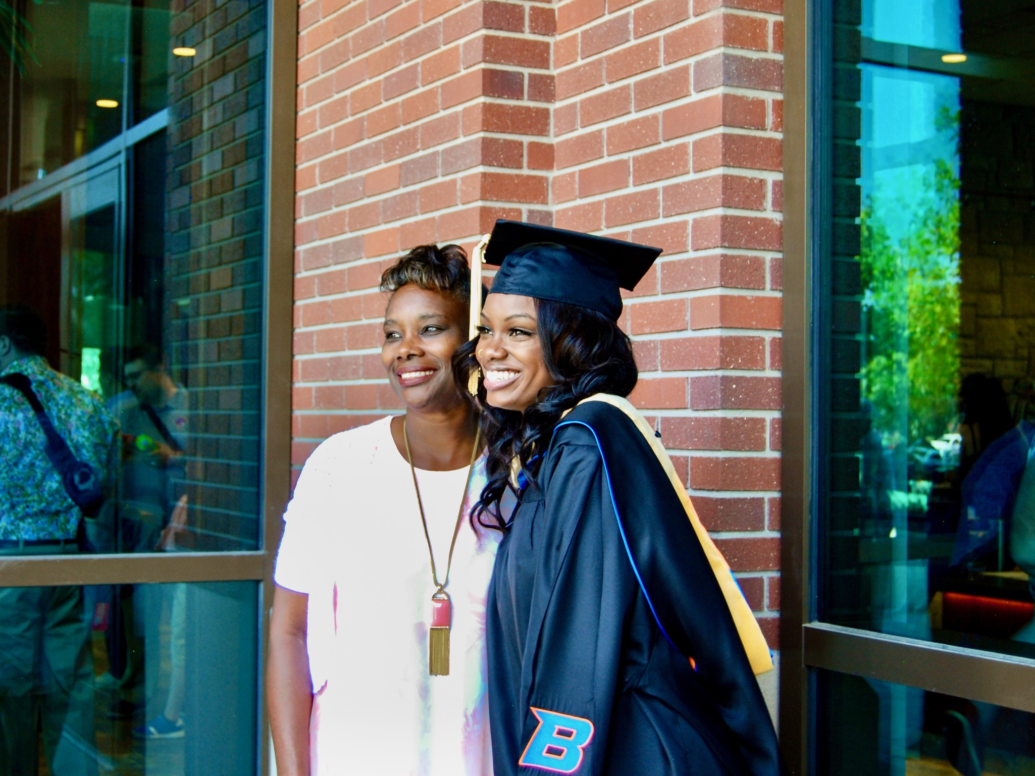 Patrice Elmore at her graduation.
