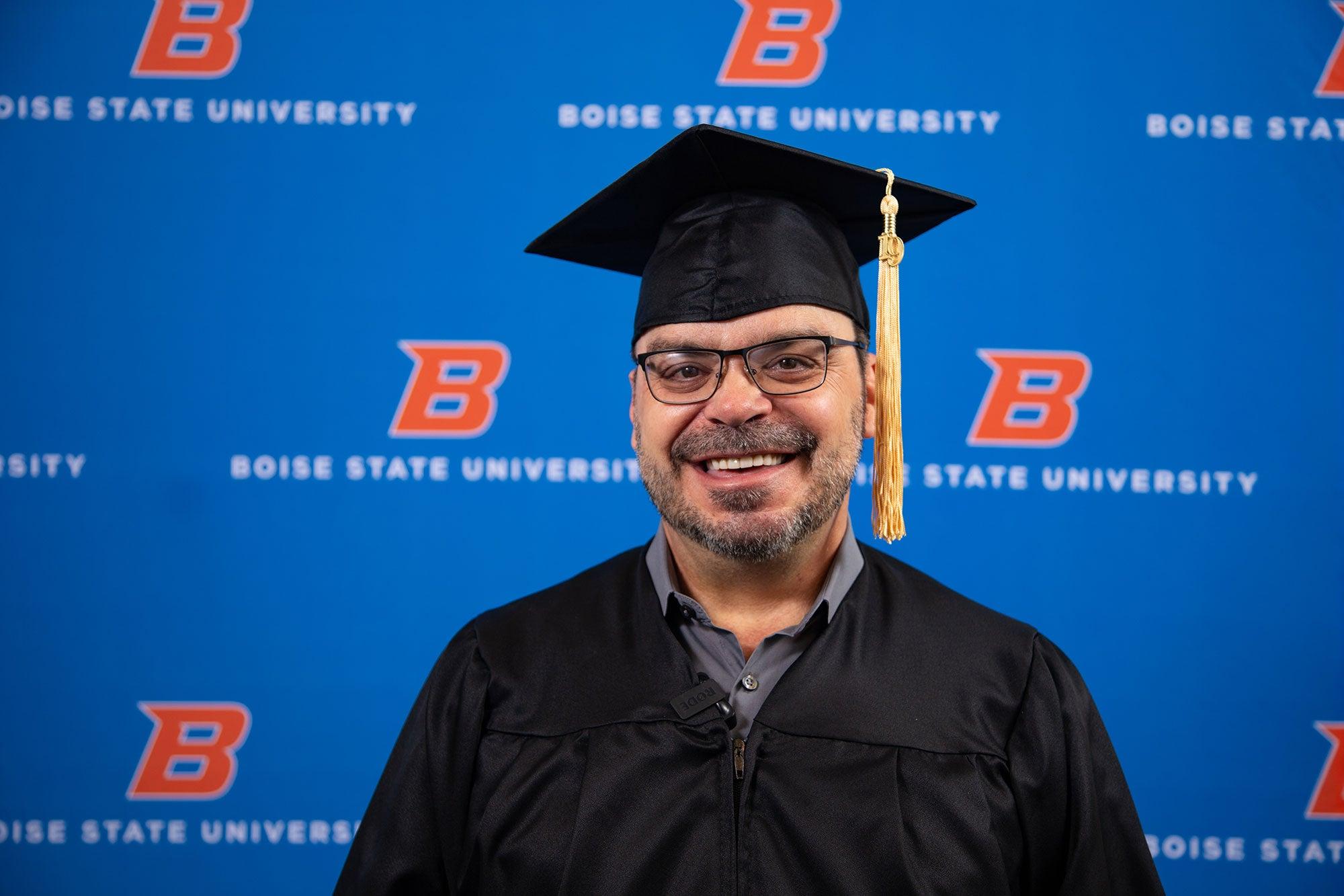 Wayne Brown at graduation.
