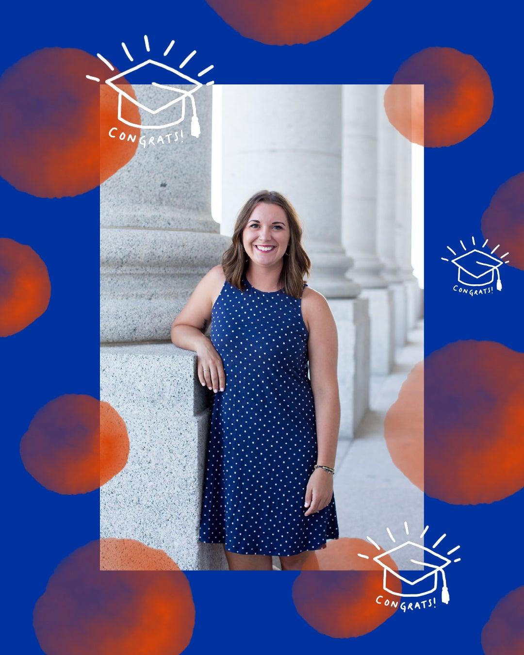 Samantha Dean Master of Social Work graduate.