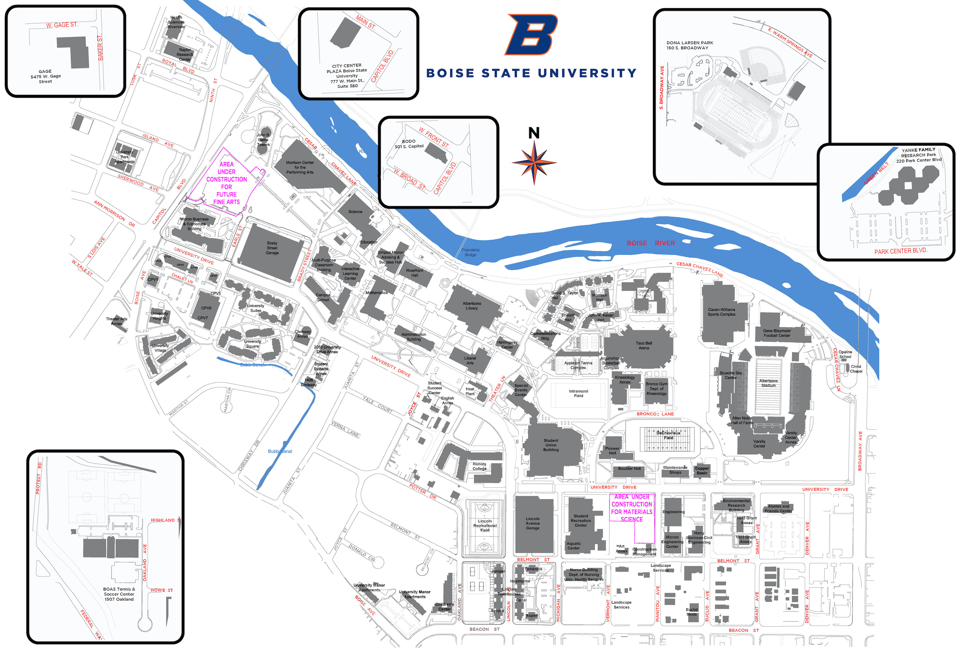 bsu map of campus Campus Master Plan And Maps Campus Operations bsu map of campus