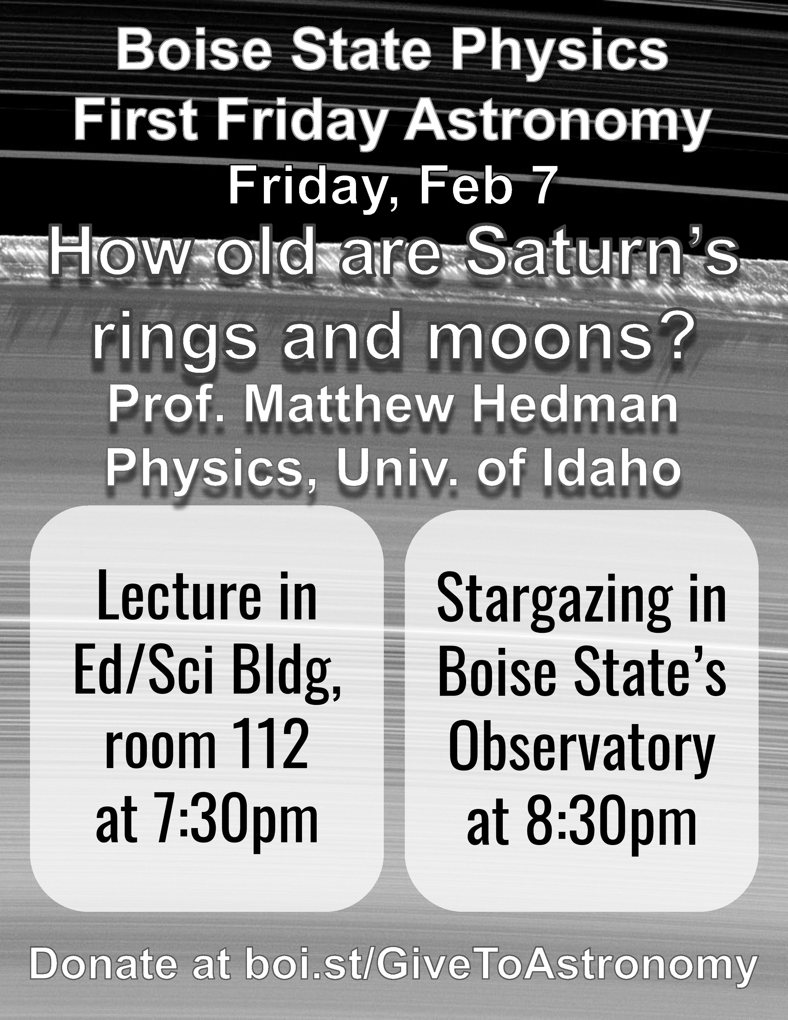 February 7 Flyer Professor Matthew Poster