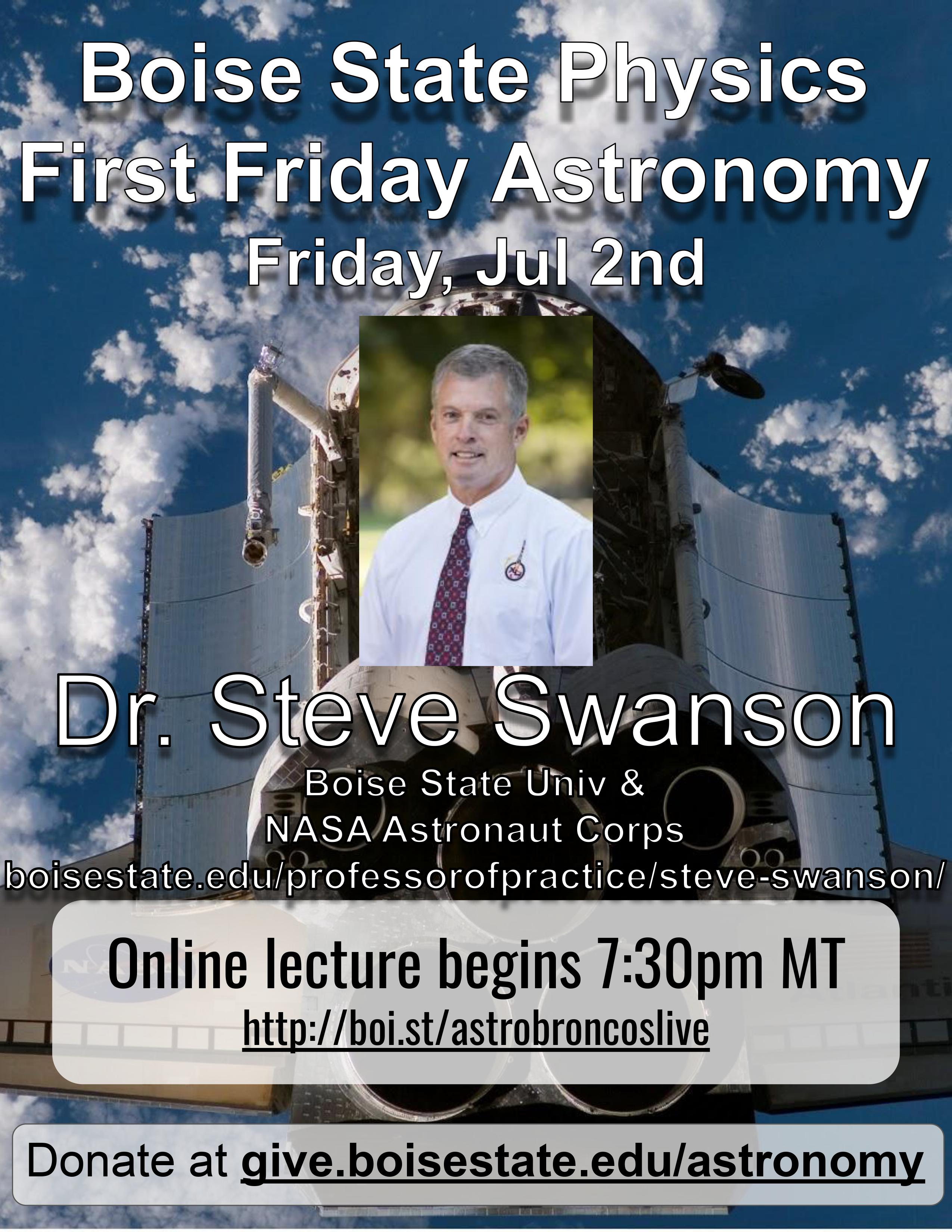 Flyer for First Friday Astronomy Event