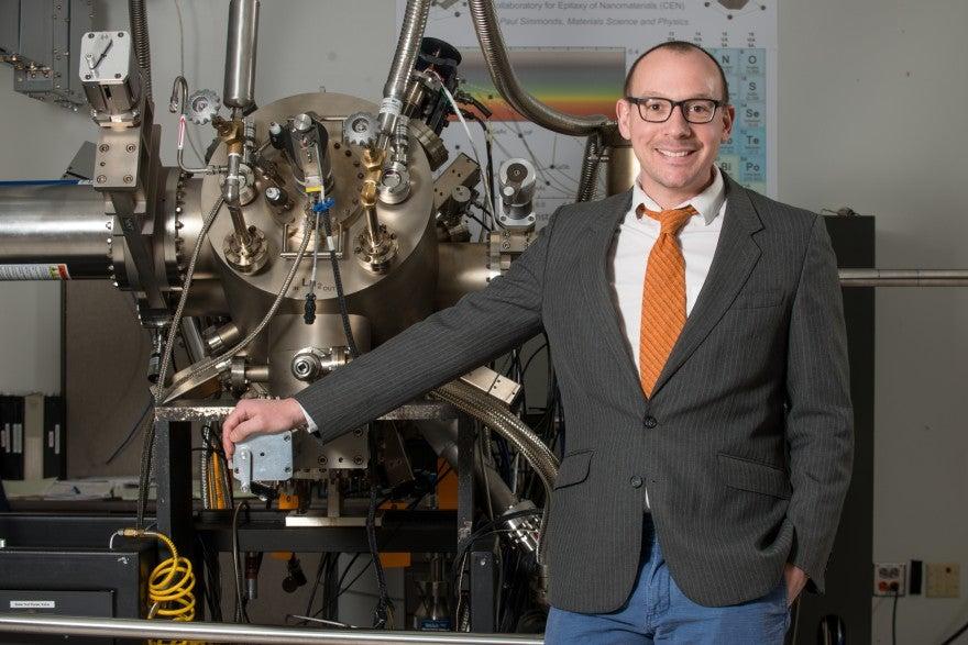 Paul Simmonds, CAREER Award, Physics, Photo by Allison Corona