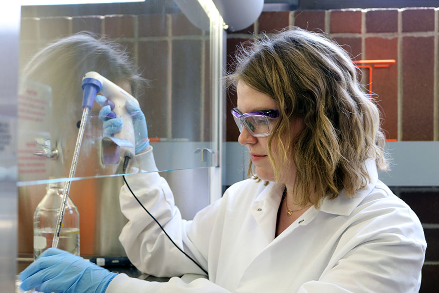 Madison working in a lab