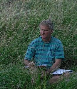 Atkinson in tall grass