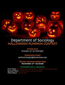 Halloween Pumpkin contest flyer