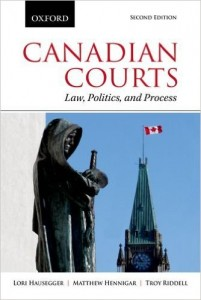 Book Cover, Canadian Courts: Law, Politics, and Process