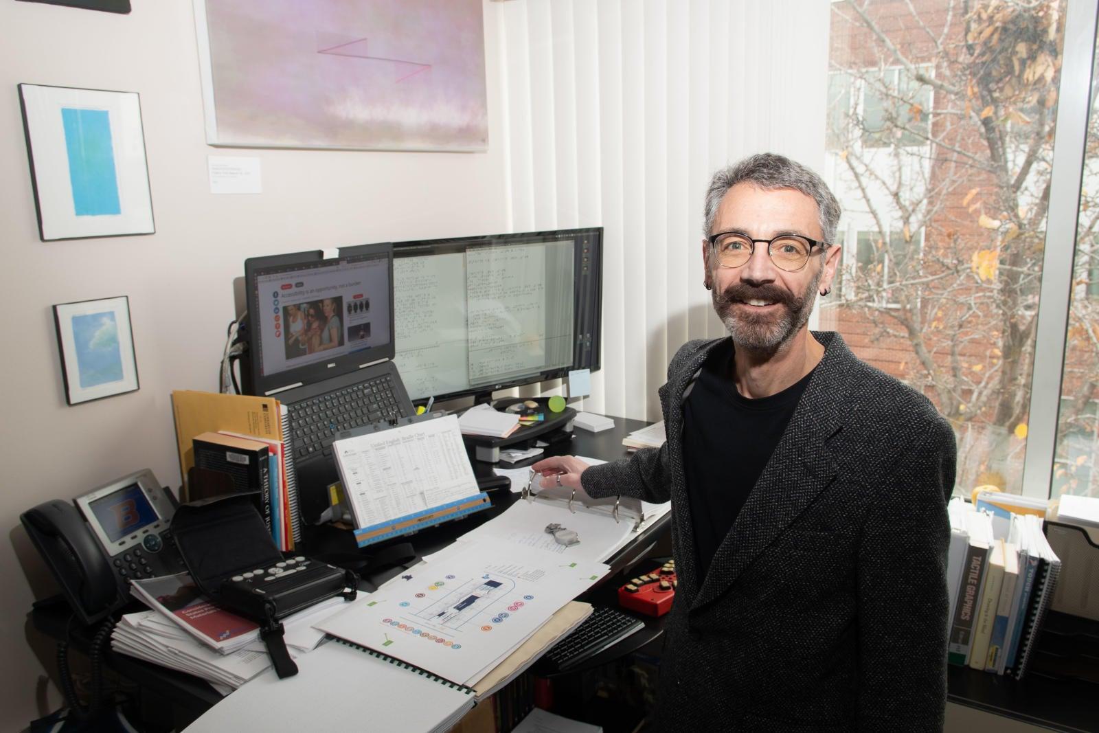 professor at his desk