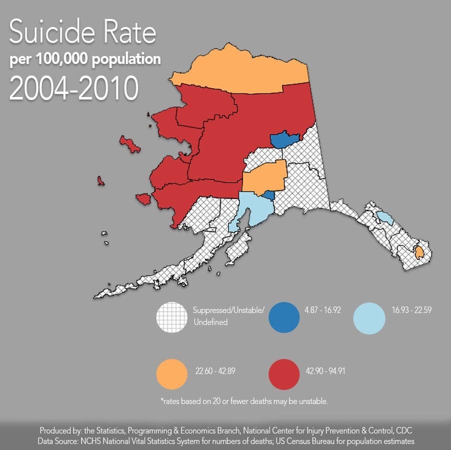 Alaska suicide infographic, contact presenter for details