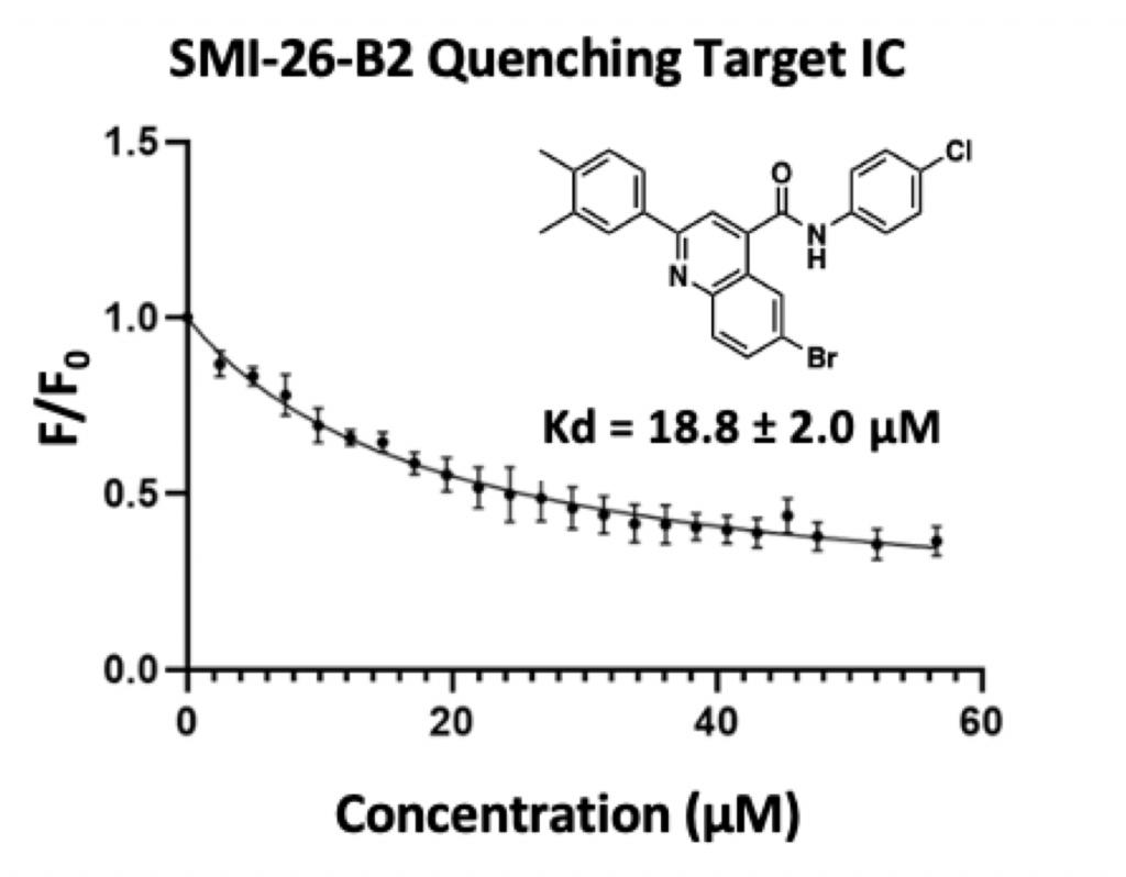 Graph SMI-26-B2 Quenching Target IC