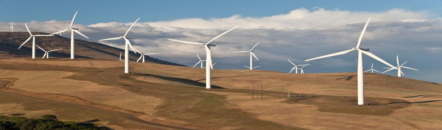 Wind turbines, photo