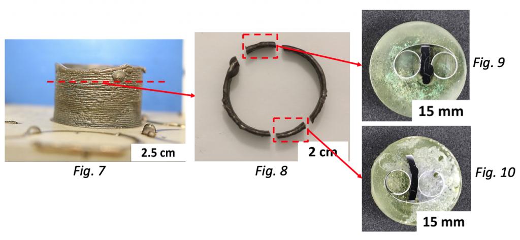fig 7, 2.5 cm, fir 8, 2 cm, fig 9 and 10, 15 cm