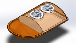 Drawing of inside compartment