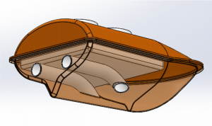 Drawing of bottom view
