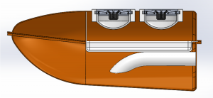 Drawing of side view