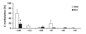 Graph, c-methylation contact presenter for specific details