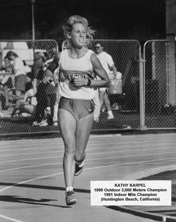 Kathy Karpel on the track