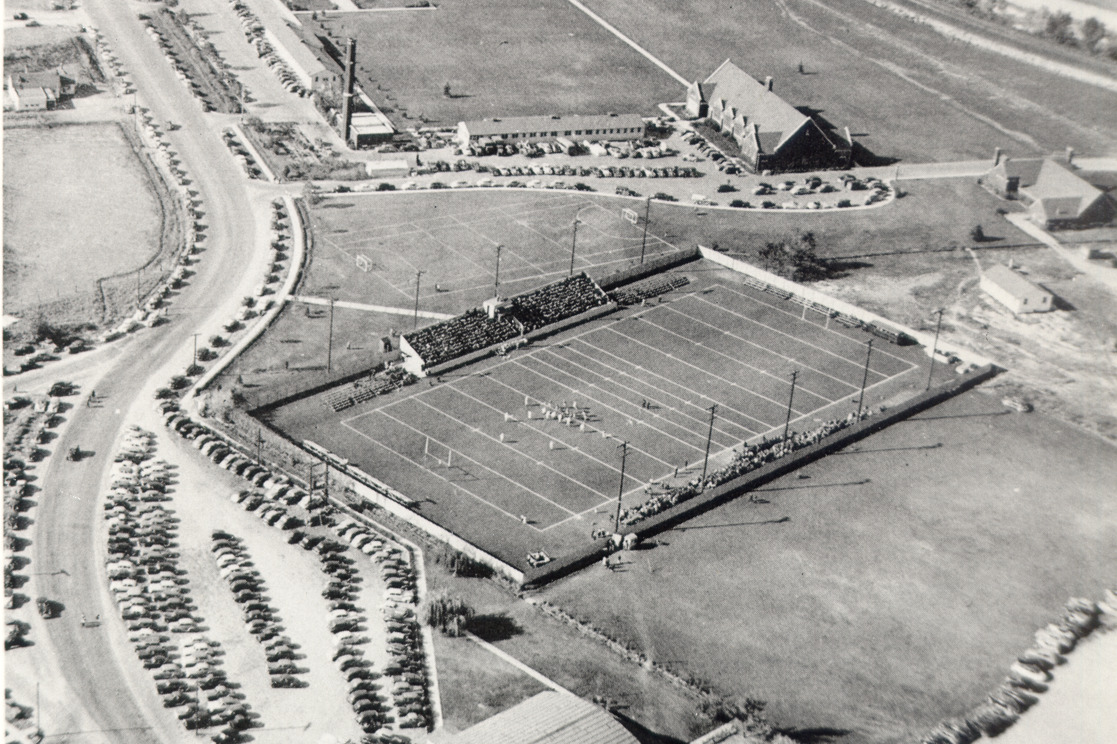 Aerial view of First field