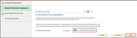 Permission Form Agreement